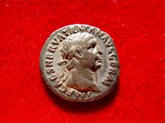 Roman Empire - Trajan (98-117 A.d.) silver denarius (3,06 g. 17 mm.). Rome mint 101-102 A.D. PM TR P COS III P P, Victory seated holding patera and palm.