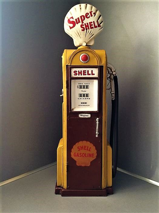 Shell   Decorative Metal Fuel Pimp   Cabinet/locker   Based On Model 1938
