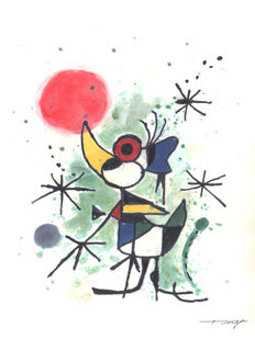 Fernandez, Tony - Original Mixed Media artwork - Donald inspired by Miró (2017)