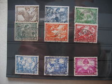 German Empire/Reich 1933 – Wagner, Michel no. 499/07 and DR 1934 stands, Michel no. 556/64