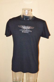 Aston Martin Racing Teammembers Black/Silver Logo Shirt by Hackett