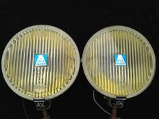 Nice Hella Rally - Fog lights with golden mirror 160 mm.