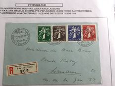 Switzerland - 109 letters and postal items.