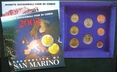San Marino – year pack/ year collection Euro coins 2002.