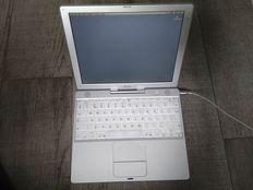 Apple iBook G3 12 inch Dual USB - 500Mhz PowerPC G3, 256MB RAM, 15GB HD - with original charger - model nr M6497 - late 2001