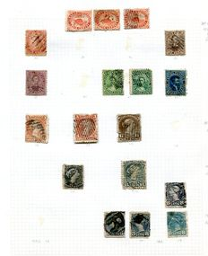 Canada 1859/1953 - collection on 21 album leaves.