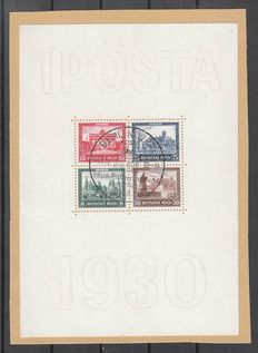 German Reich 1930 – Postage stamp exposition IPOSTA Berlin – Michel block 1