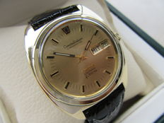 OMEGA Constellation Chronometer Electronic f 300 hz. 80 micron gold-plated men's wristwatch 1970s vintage watch, rare