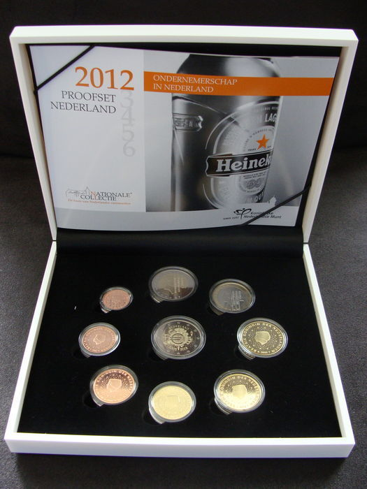 "The Netherlands – year pack (Proof) 2012, including 2 Euro coin ""10 years Euro""."