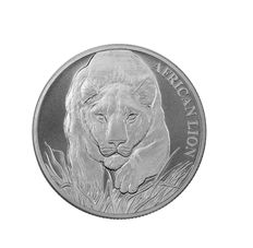 Africa - 5000 francs - African Lion - Africa Chad Lion 2017 - 999 silver