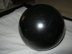 Large Black Shungite sphere with stand - 100 mm - 1560 gm