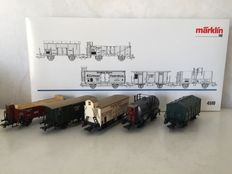 "Märklin H0 - 4510 - 5-piece freight carriage unit ""Württemberg"" of the K.W.St.E"