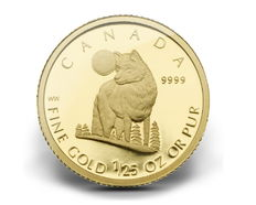 Canada - Wolf / Timberwolf 2007-999 gold coin 1/25 oz - polished plate