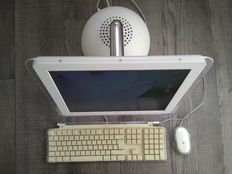 "Apple iMac Flat Panel G4 ""Tournesol"" - model M6498, from 2002 - 800Mhz G4, 768MB RAM, 120GB HDD, DVD-RW - with original keyboard, mouse, speakers"