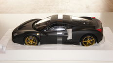 Hot Wheels Elite - Schaal 1/18 - Ferrari 458 Speciale - Matt Black