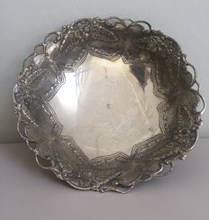 Silver Bowl with handmade stamp Manufacturer and grade of silver 900