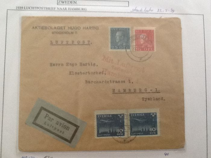 Sweden 1860/1947 – Collection of 106 postal items