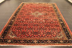 Handwoven Persian carpet collector's carpet authentic Hamadan Made in Iran natural colours 210 x 320 cm