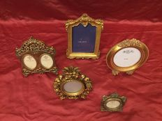 Collection of 5 gilded frames.