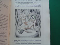Denise Diderot - Les Bijoux indiscrets. Chisels in colour of Jean Dulac - 2 volumes - 1947