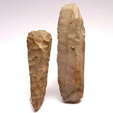Neolithic axe and nucleus from Belgium - 164 and 129 mm