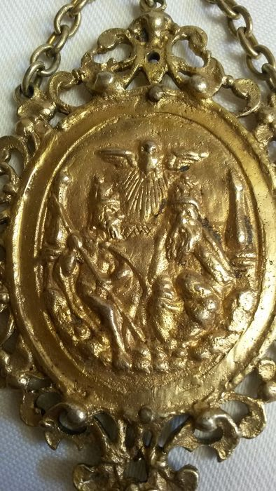 A Baroque silver gilt devotional plaque - Germany - dated 11 November 1663
