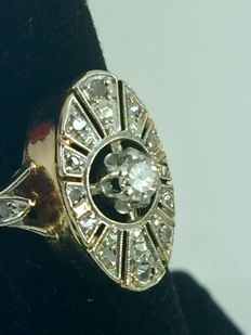 Egyptien diamonds 18k gold ring