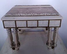Side table with marble top, 20th century