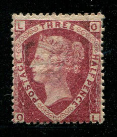 Great Britain, Queen Victoria 1870 – 1.5 penny lake-red – Stanley Gibbons 52a plate 1