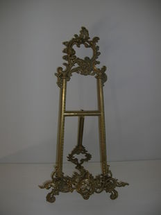 Bronze rococo style easel - France - ca. 1900