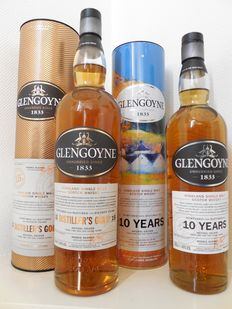 2 bottles - Glengoyne 15 years Distiller's Gold & Glengoyne 10 years Special Edition