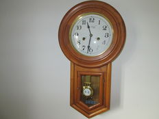 English Pine Wood clock – circa 1970