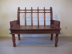 Painted bench - India - First half of 20th century.