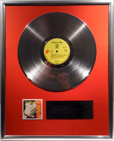 "The Rolling Stones - Love you Live - 12"" German Stones Record platinum plated record by WWA Awards"