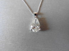 18k Gold Pear Diamond Pendant  - 0.40ct J  SI1