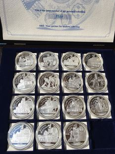 Europe - Various medallions (15 different ones) - Silver