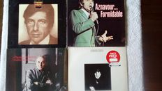 3 of the most beautiful voices on offer! 3 albums by Leonard Cohen( all on CBS) 3 albums by Charles Aznavour(all on Barclay) and 1 doublealbum and 1 album by Sam Cooke.