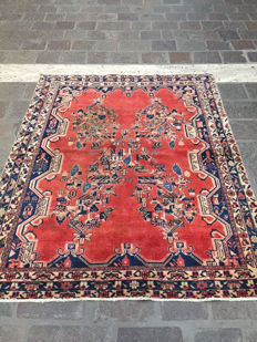 Hand-knotted Afshary Persian rug - 187 x 150 cm - Iran - Circa 1950s.