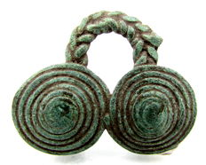 Celtic / Iron age spectacle Coiled Pendant - 30 mm