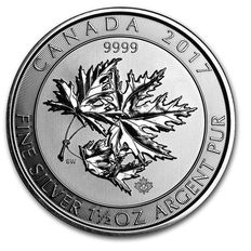 Canada - Multi Maple Leaf Superleaf 1.5 oz 2017 - 8 CAD - 999 silver coin