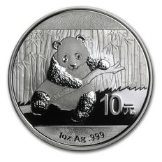 China - 10 Yuan - 1 oz 999 silver coin silver China Panda 2014 - in capsule