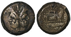 Roman republic - Clovia - Clovio Saxula - AS 25 gr. - 169-158 BC - Janus&Prow