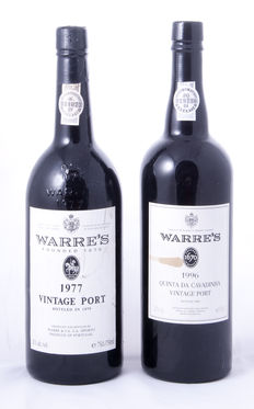 1977 Vintage Port Warre's & 1996 Vintage Port Warre's Quinta da Cavadinha - 2 bottles