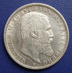 Empire, Württemberg - 2 marks 1906 F - Silver