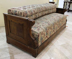 Walnut wood sofa in Louis Philippe style - second half of the 19th century