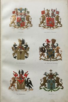 Lot with heraldic album D'Ablaing and manuscript of Baron d'Ablaing - [1846] / 1879
