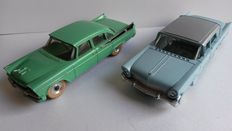 Dinky Toys-France / England - Scale 1/43 - Lincoln Première No.532 & Dodge Royal Sedan No.191
