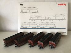 Märklin H0 - 4824 - Carriage set with 5 large volume saddle bottoms Fals of the RAG (Ruhrkohle AG) Fals