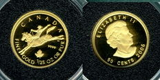 Canada - Rodeo 2006-999 gold coin 1/25 oz - polished plate