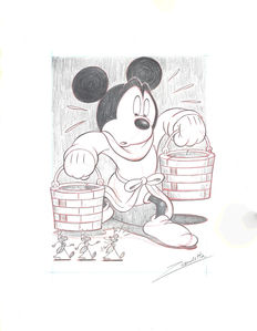 Vendetta, Z. - Original pencil drawing -  Mickey Mouse - The Sorcerer's Apprentice - (2017)